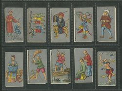 20 Old Chinese Cigarette Cards, condition varies (2 images)